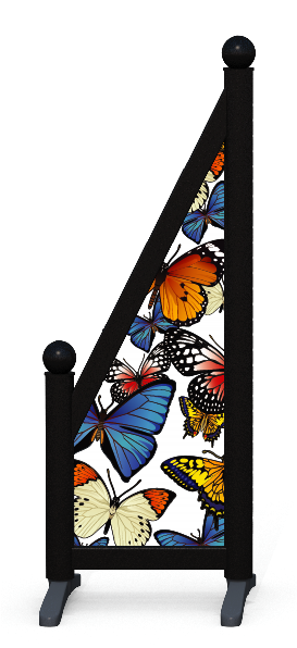 Wing > Sloping Printed > Butterflies