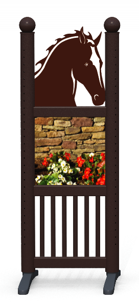 Wing > Combi Horse Head > Flowerbed Wall