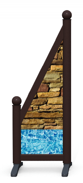 Wing > Sloping Printed > Wall And Pool