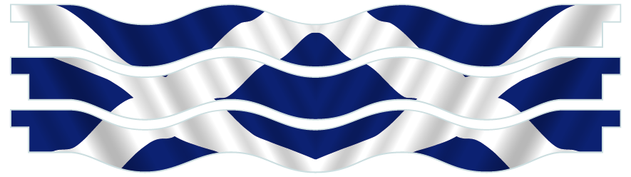 Planks > Wavy Plank x 3 > Scottish Flag