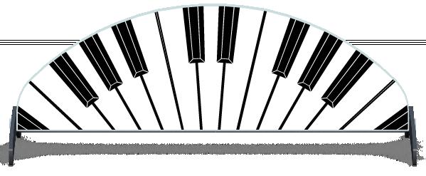 Fillers > Half Moon Filler > Piano Keys