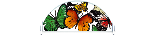 Fillers > Half Round Filler > Butterflies