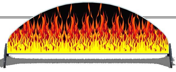 Fillers > Half Moon Filler > Hot Rod Fire