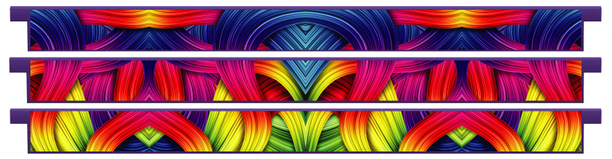 Planks > Straight Plank x 3 > Rainbow Ribbons