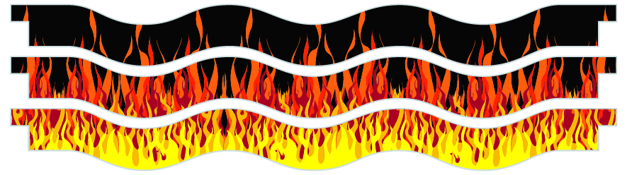 Planks > Wavy Plank x 3 > Hot Rod Fire