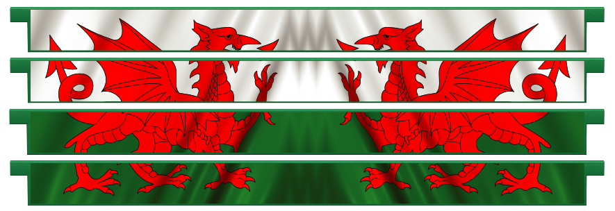 Planks > Straight Plank x 4 > Welsh Flag