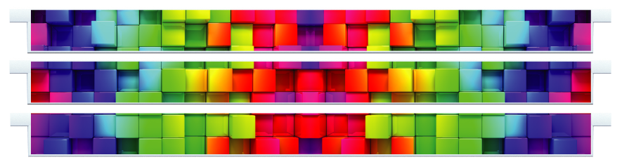 Planks > Straight Plank x 3 > Rainbow Cubes