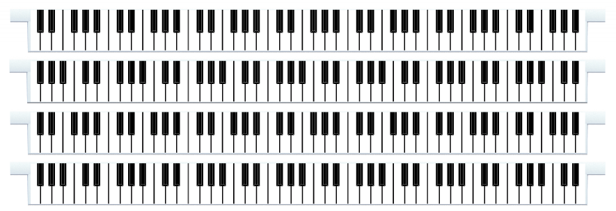 Planks > Straight Plank x 4 > Piano Keys