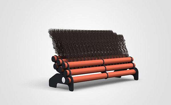 3 Layer Brush 1.8mtr - Orange