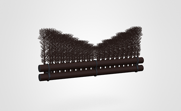 Hanging Brush Shaped 1.8mtr